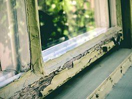 Fönsterkitt som kan innehålla asbest