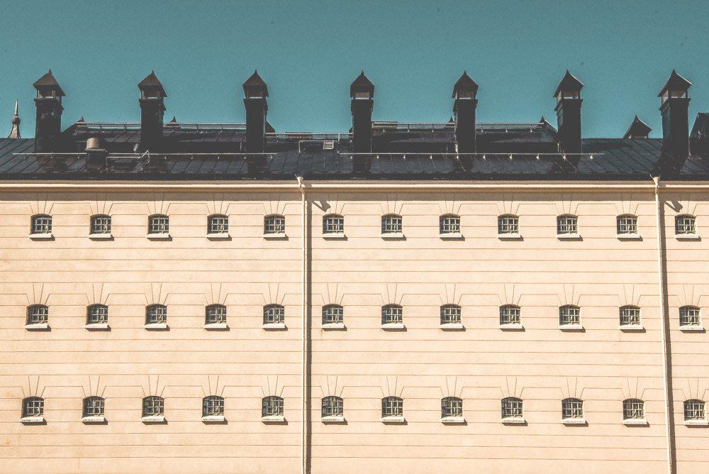 Fönster till cellerna i Härlanda fängelse